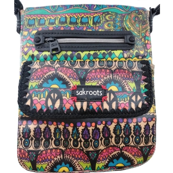 e158f402b Sakroots Bags | Boho Coated Canvas Crossbody Bag | Poshmark
